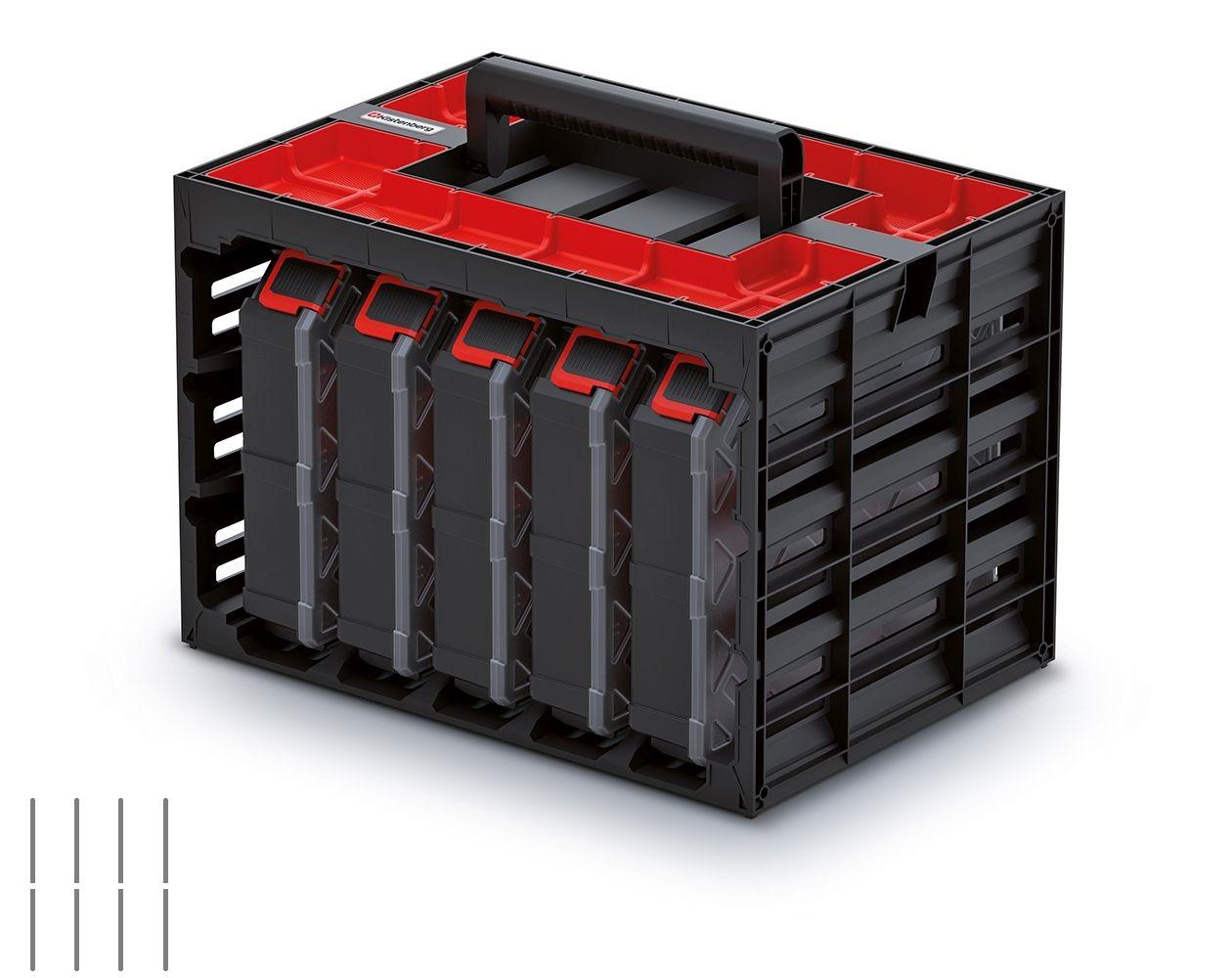 PROSPERPLAST Skříňka s 5 organizéry (přepážky) TAGER CASE 415x290x290