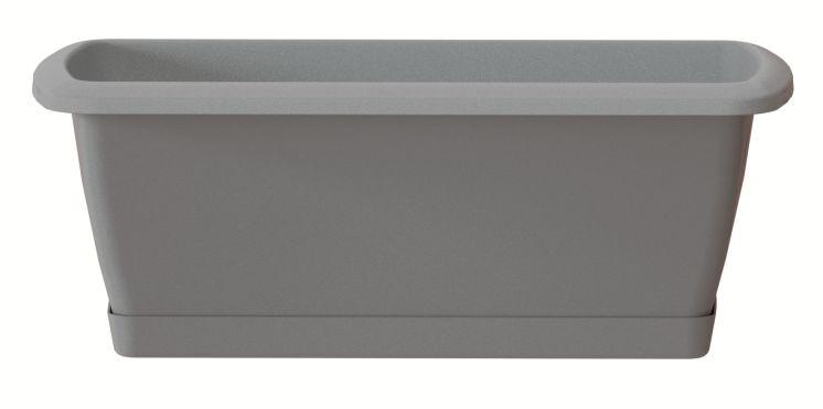 PROSPERPLAST Truhlík s miskou RESPANA SET šedý kámen 39,2 cm