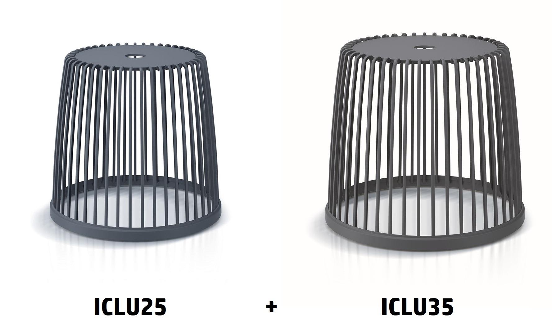 PROSPERPLAST Set 2 univerzálních košů CLUBO 25+35l antracit
