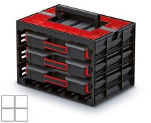 Skříňka s 3 organizéry (krabičky) TAGER CASE 415x290x290