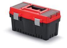 Kufr na nářadí s kov. zámky EVO červený