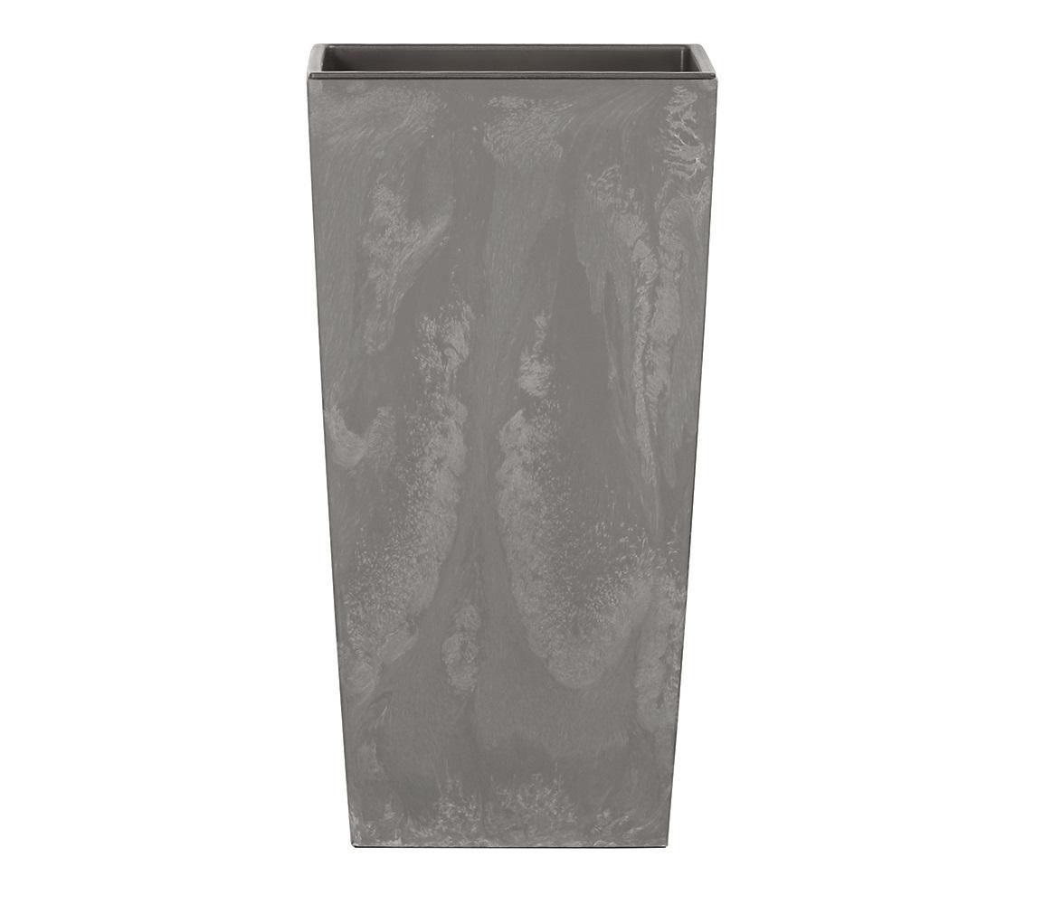 PROSPERPLAST Květináč URBI SQUARE BETON EFFECT marengo 12,6 cm
