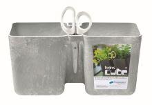 Květináč TWINS CUBE beton 24,4cm