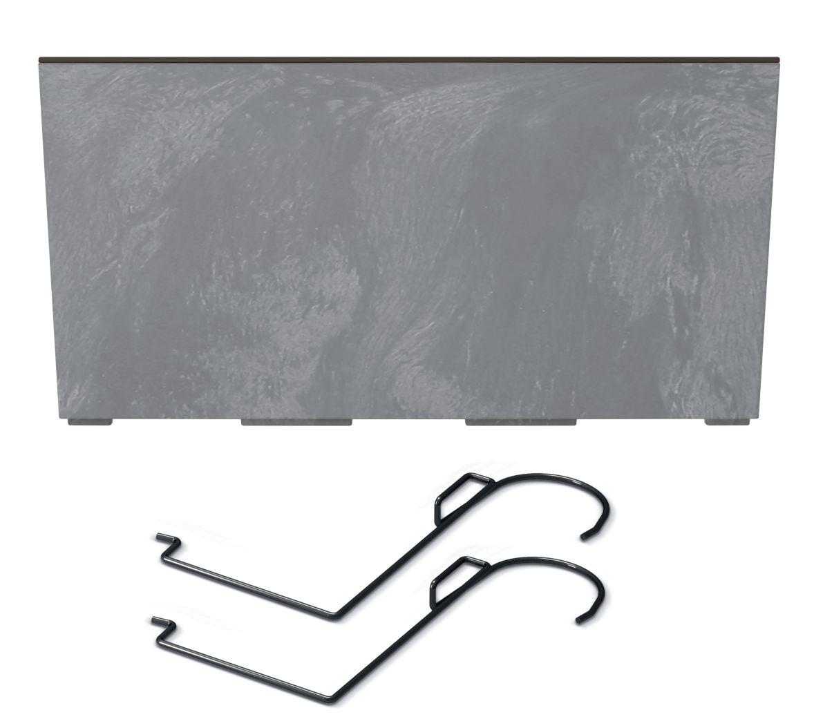 PROSPERPLAST Truhlík s háky URBI CASE BETON EFFECT W marengo 58cm