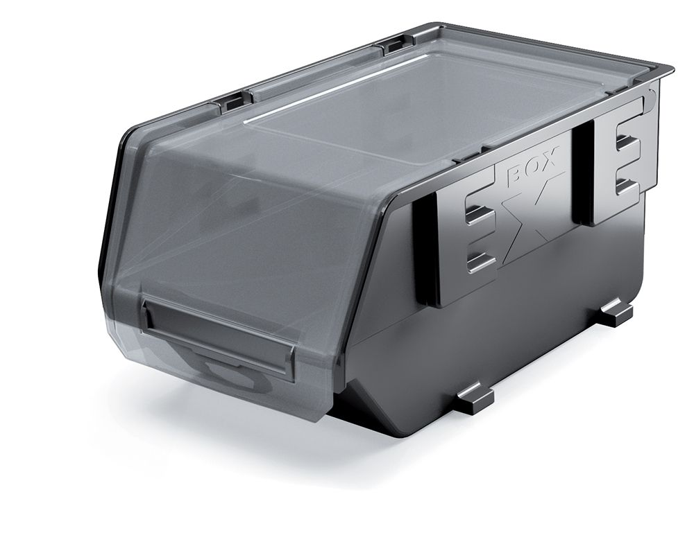 PROSPERPLAST Plastový úložný box zavíratelný EXE PLUS 393x283x192 černý