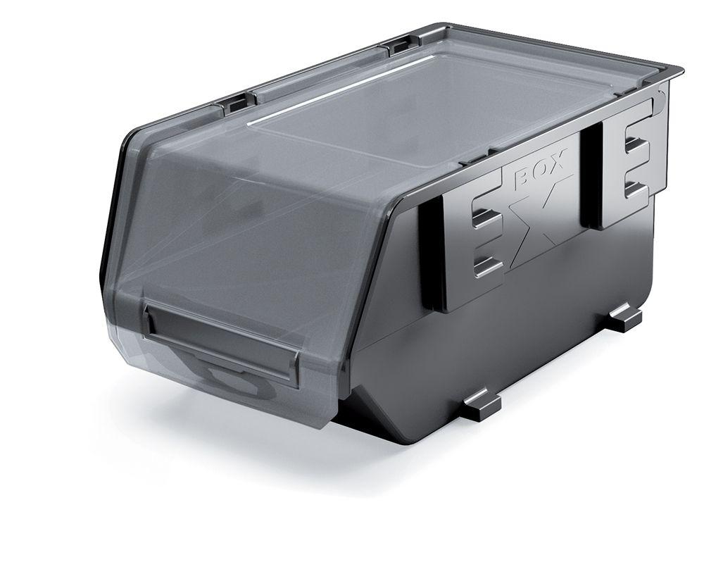PROSPERPLAST Plastový úložný box zavíratelný EXE PLUS 237x159x118 černý