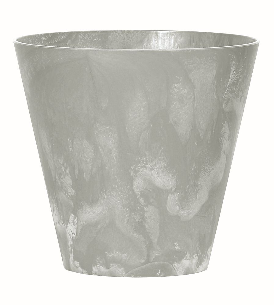 PROSPERPLAST Květináč TUBUS BETON EFFECT šedý 40cm