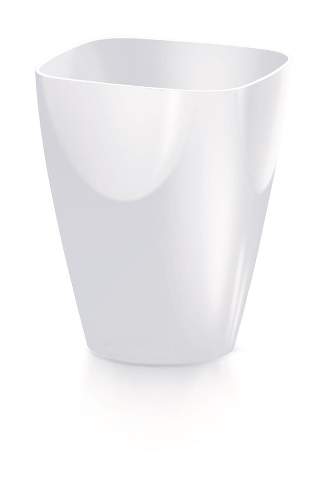 PROSPERPLAST Květináč COUBI ORCHID hranatý bílý 13,2cm