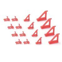 Sada držáků BINEER HOOKS na montážní panely, červené, 16 ks