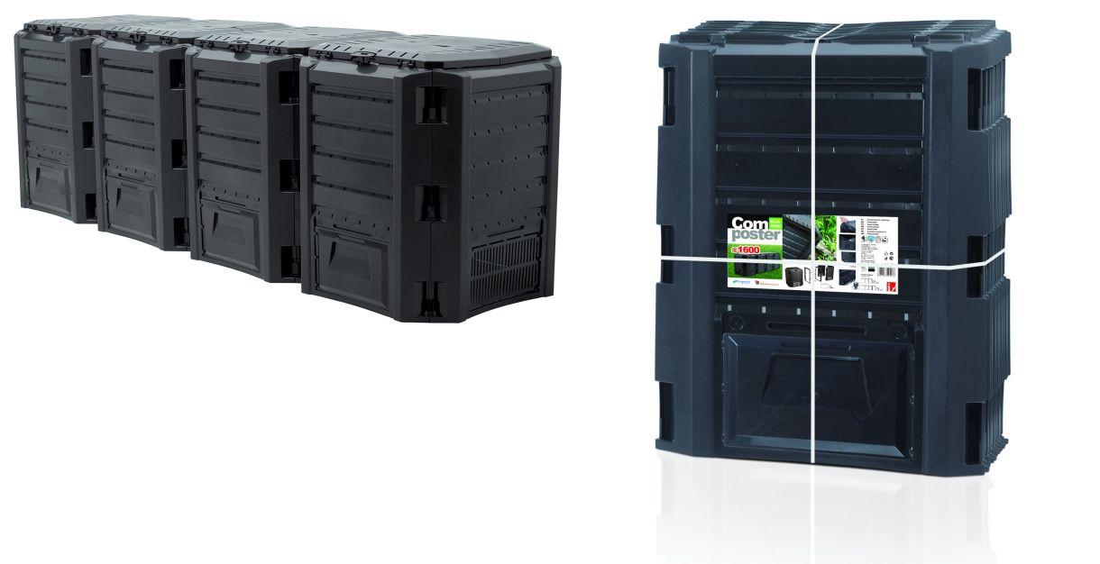 PROSPERPLAST Kompostér MODULE COMPOGREEN černý 1600l bez balení