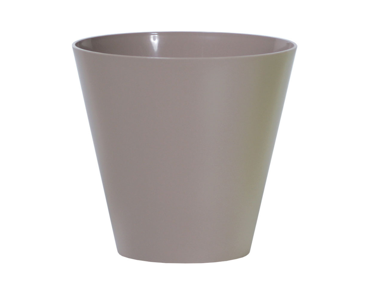 PROSPERPLAST Květináč TUBUS mocca 40,0cm