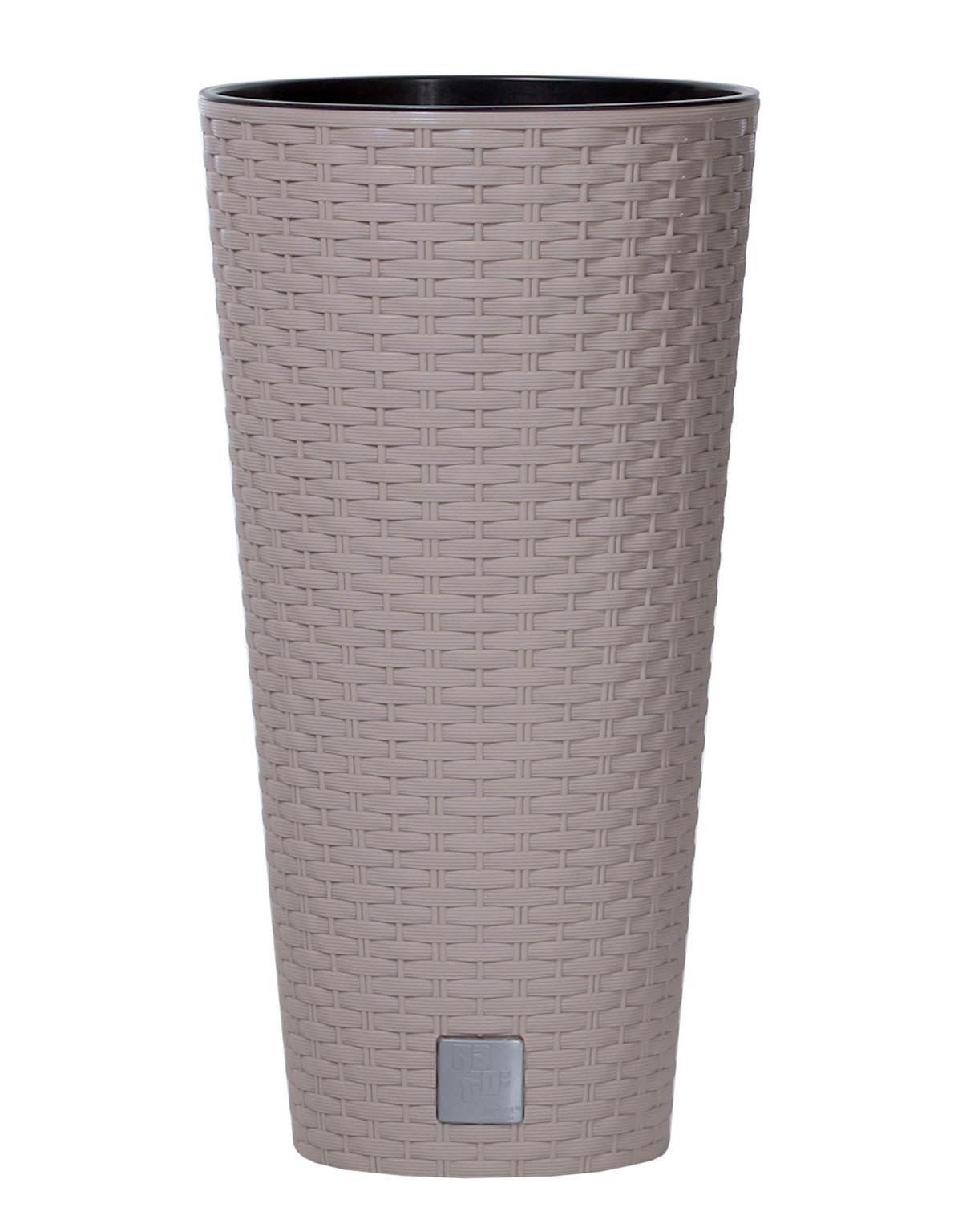 PROSPERPLAST Květináč RATO TUBUS + vklad mocca 20cm
