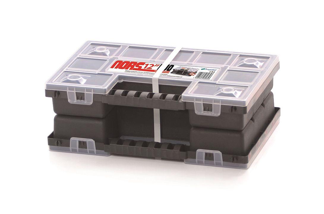 PROSPERPLAST Plastový organizér NORDUO S (2x NORS12) 287x186x100 červený