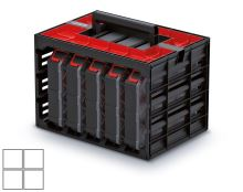 Skříňka s 5 organizéry (krabičky) TAGER CASE 415x290x290