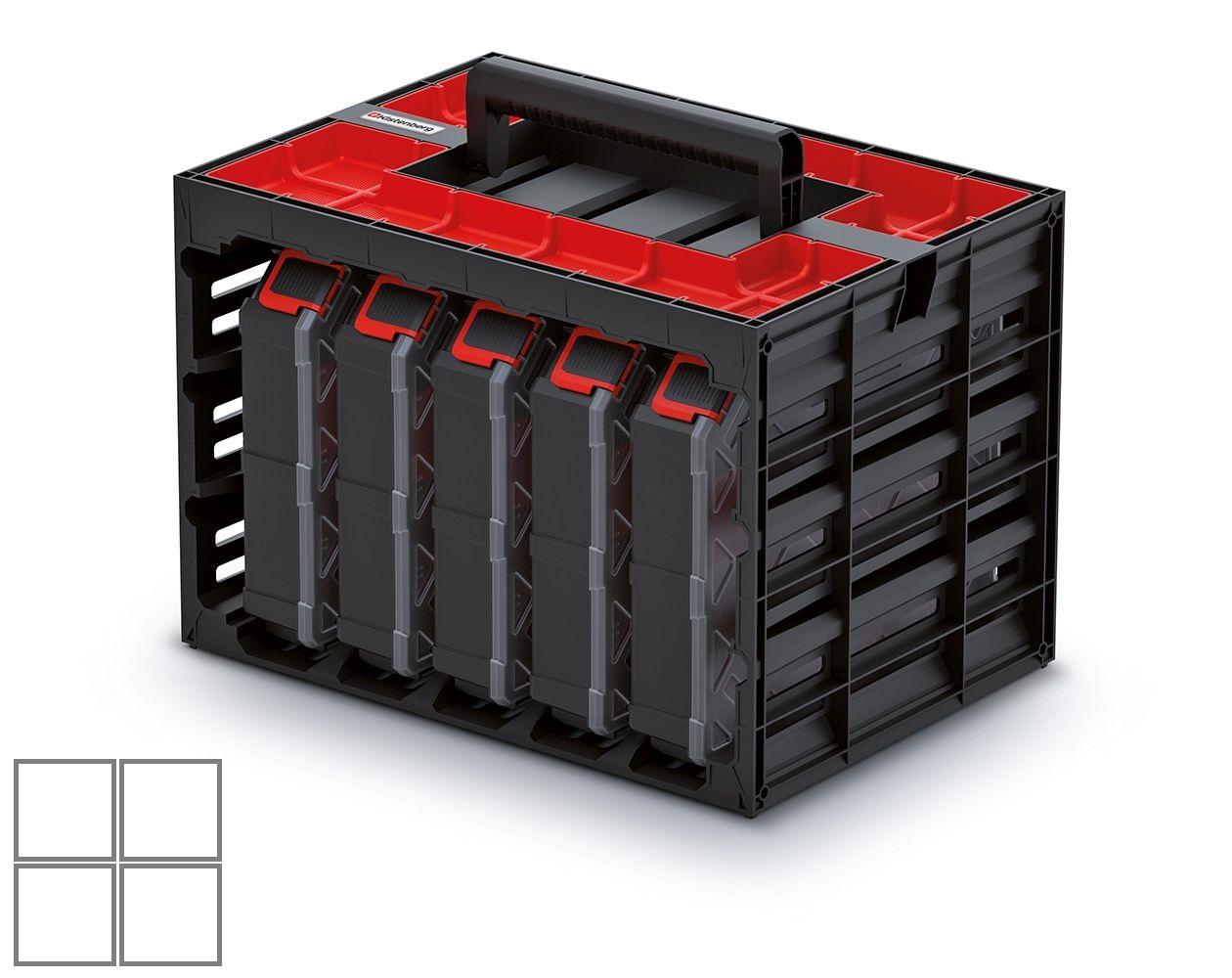 PROSPERPLAST Skříňka s 5 organizéry (krabičky) TAGER CASE 415x290x290
