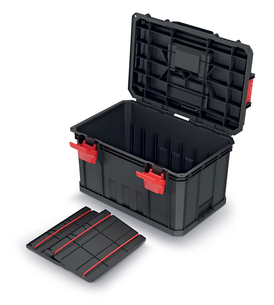 PROSPERPLAST Kufr na nářadí s 2 přepážkami MODULAR SOLUTION 530x355x310