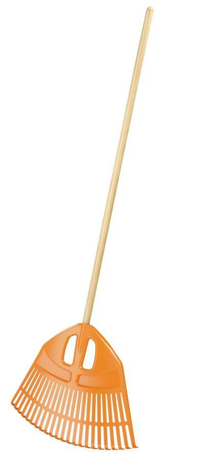 PROSPERPLAST Hrábě EXPERT oranžové, dřevěná násada 182cm