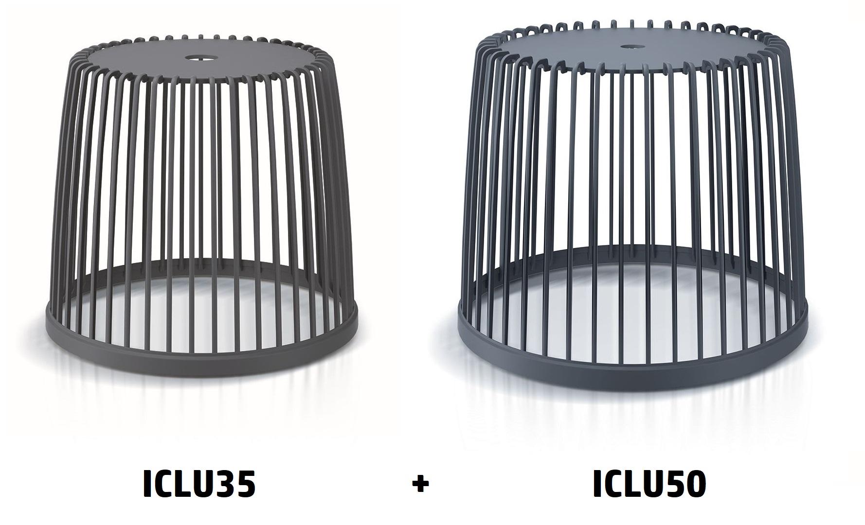 PROSPERPLAST Set 2 univerzálních košů CLUBO 35+50l antracit