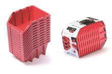 Set plastových úložných boxů 12ks BINEER LONG SET 190x77x120 červený