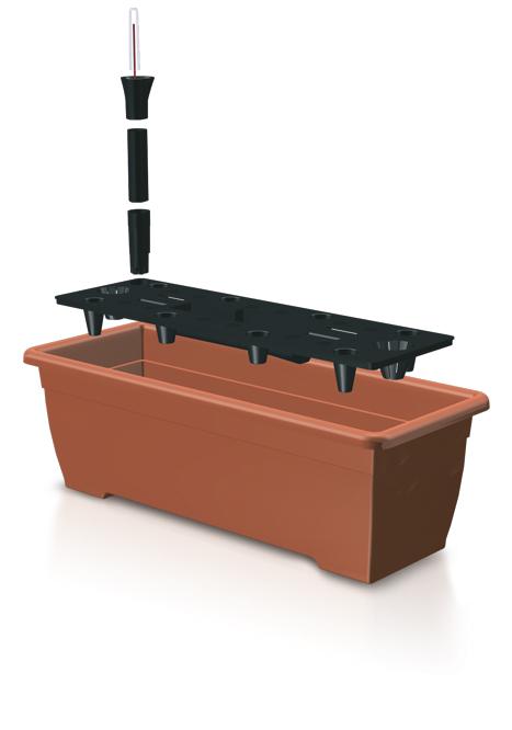 PROSPERPLAST Truhlík BALCONY CAN 50 cm + zavlažovací systém