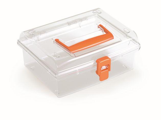 PROSPERPLAST Plastový organizér NUF LOW 195x174x85 oranžový