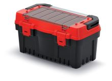 Kufr na nářadí s kov. držadlem EVO červený (přepážky)