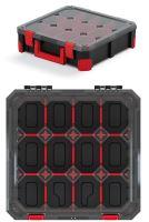 Organizér TITAN - 12 přihrádek (přepážky), průhledné víko 390x390x110