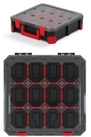 Organizér TITAN - 12 přihrádek, průhledné víko 390x390x110