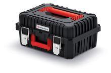 Kufr na nářadí s kov. zámky HEAVY černý (vnitřní přihrádky)