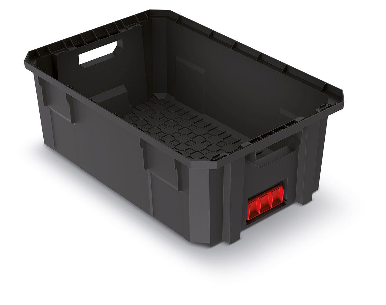 PROSPERPLAST Modulární přepravní box X BLOCK PRO černý 544x362x200