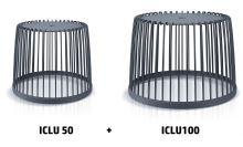 Set 2 univerzálních košů CLUBO 50+100l antracit