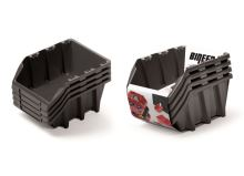 Set plastových úložných boxů 4ks BINEER LONG SET 295x198x195 černý