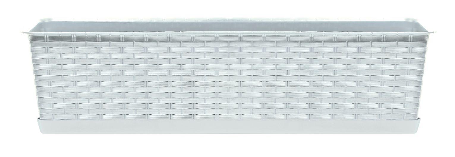 PROSPERPLAST Truhlík s miskou RATOLLA CASE bílý 48,9cm
