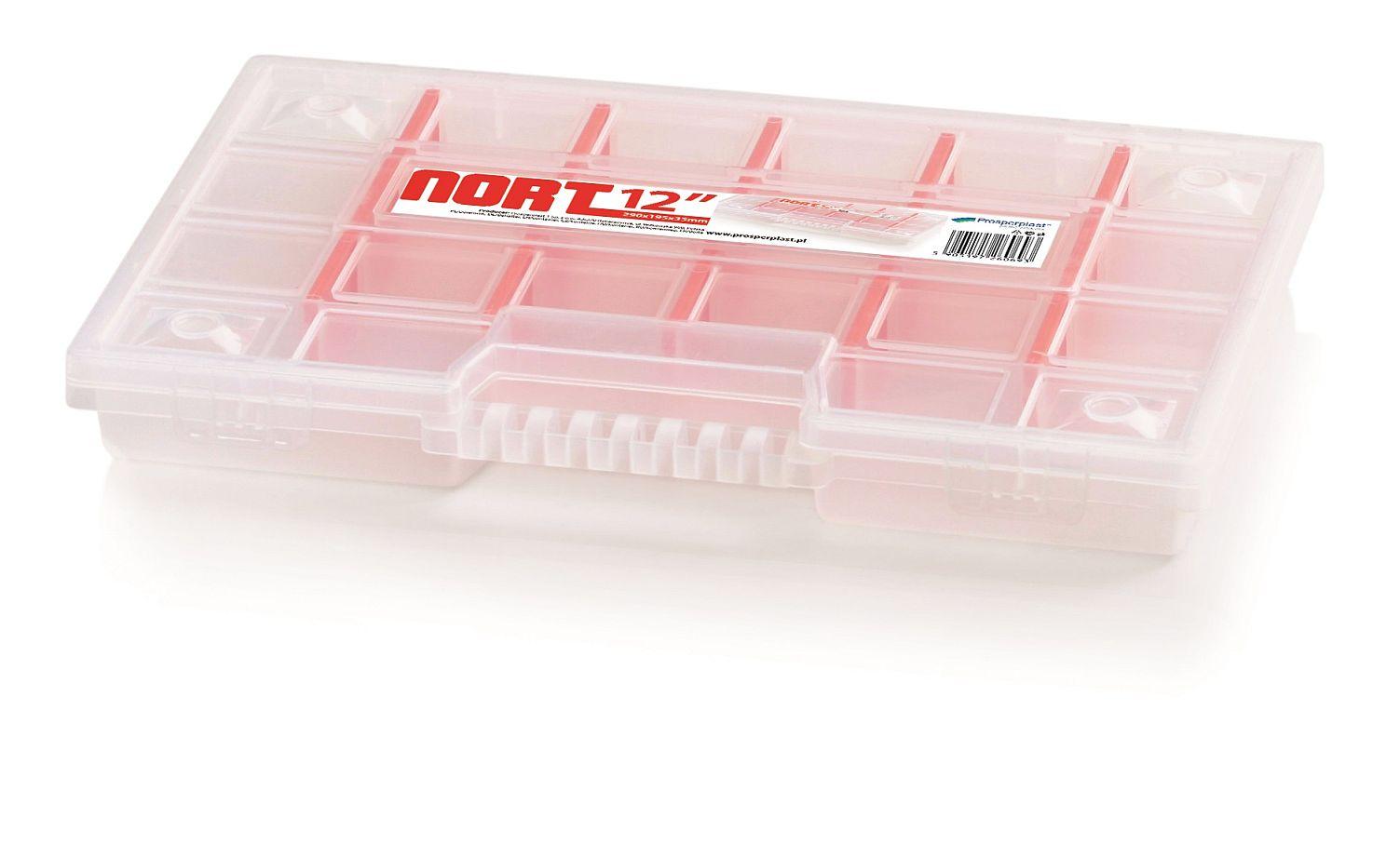 PROSPERPLAST Plastový organizér 22 přihrádek (přepážky) NORT 290x195x35 červený