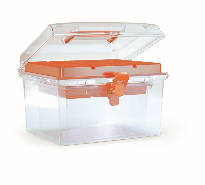 PROSPERPLAST Plastové organizéry NUF SET 245x214x158 oranžové