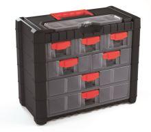Plastový organizér závěsný MULTICASE CARGO 400x200x326 červené úchyty
