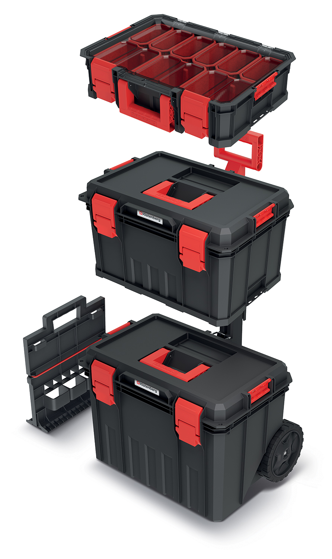 PROSPERPLAST Set kufrů na nářadí a organizéru MODULAR SOLUTION 530x355x825