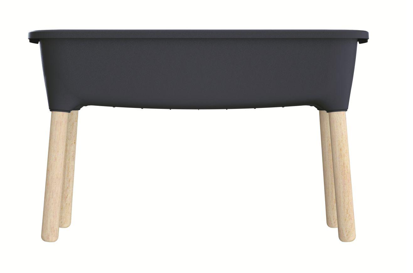 PROSPERPLAST Sadbovač RESPANA PLANTER WOOD HIGH antracit 78cm