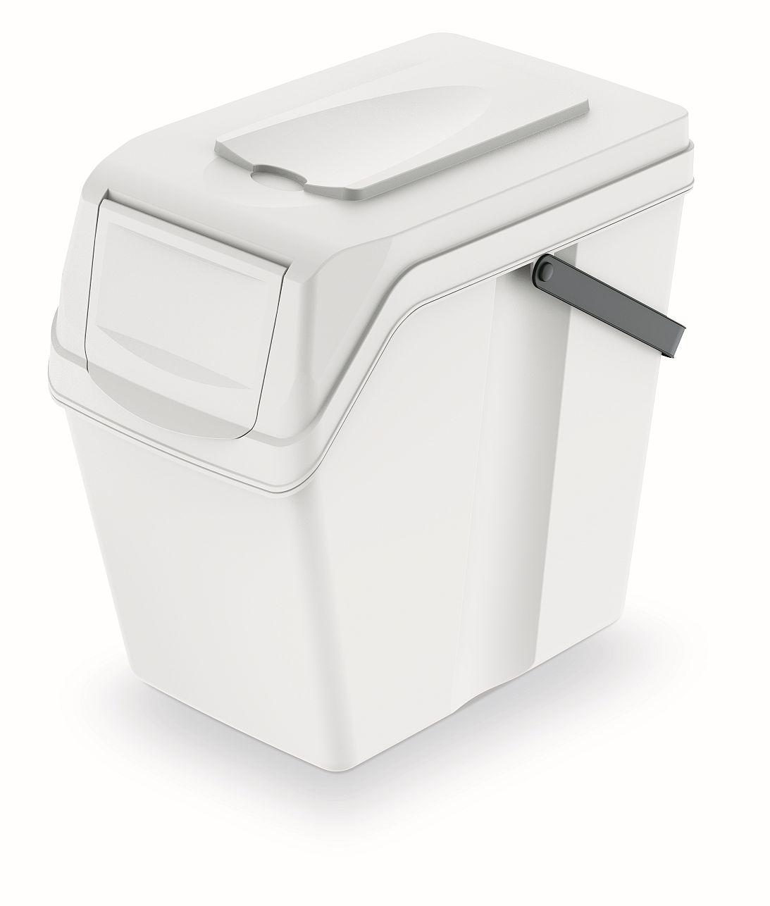 PROSPERPLAST Odpadkový koš SORTIBOX II bílý, objem 25L
