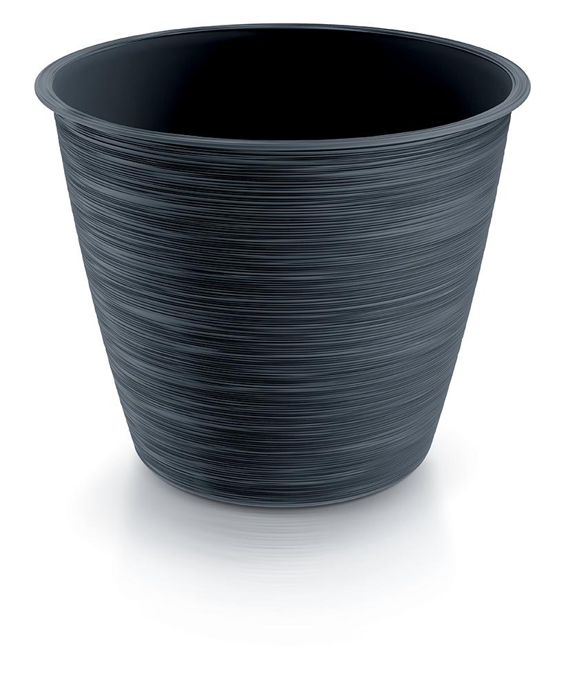 PROSPERPLAST Květináč FURU antracit 16,6cm