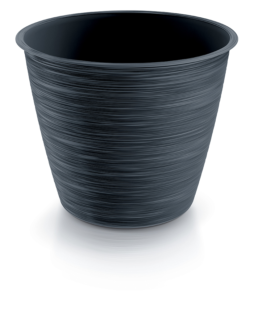 PROSPERPLAST Květináč FURU antracit 19,5cm