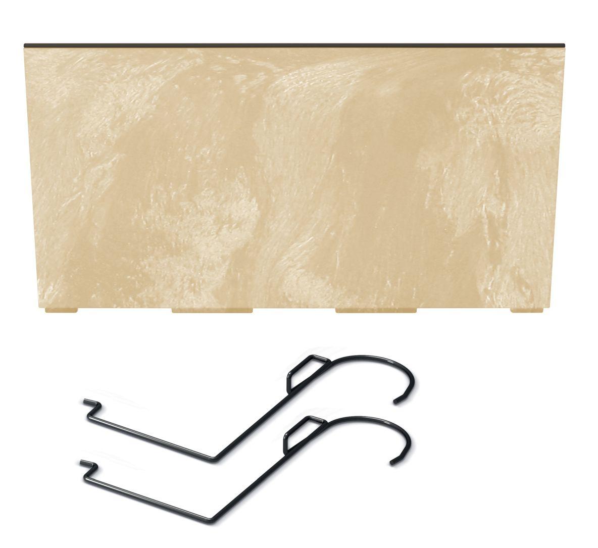 PROSPERPLAST Truhlík s háky URBI CASE BETON EFFECT W pískový 58cm