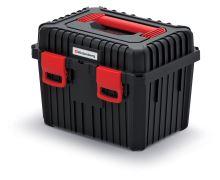 Kufr na nářadí HEAVY černý (univerzal. držáky ve víku)