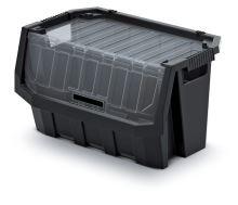 Plastový úložný box uzavíratelný TRUCK MAX PLUS černý