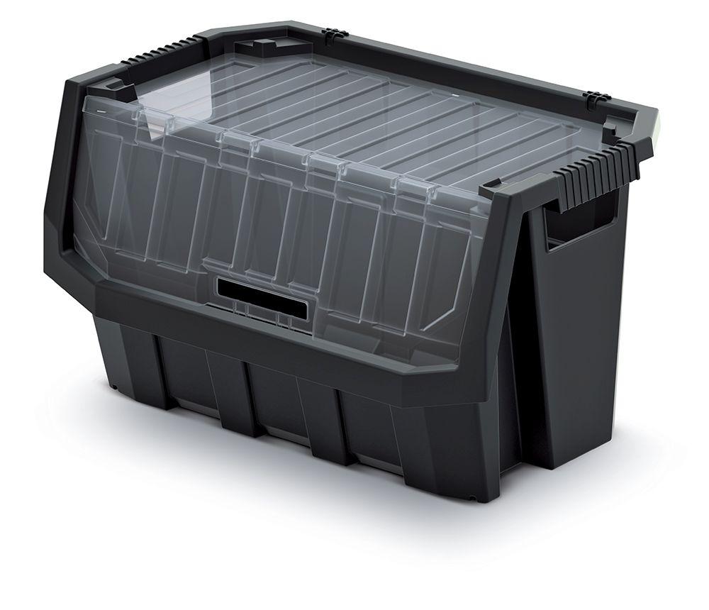 PROSPERPLAST Plastový úložný box uzavíratelný TRUCK MAX PLUS 396x290x280 černý
