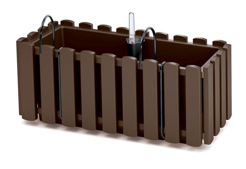 PROSPERPLAST Truhlík s kov. držákem BOARDEE FENCYCASE W hnědý 38cm