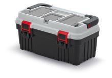 Kufr na nářadí s kov. držadlem OPTIMA šedý