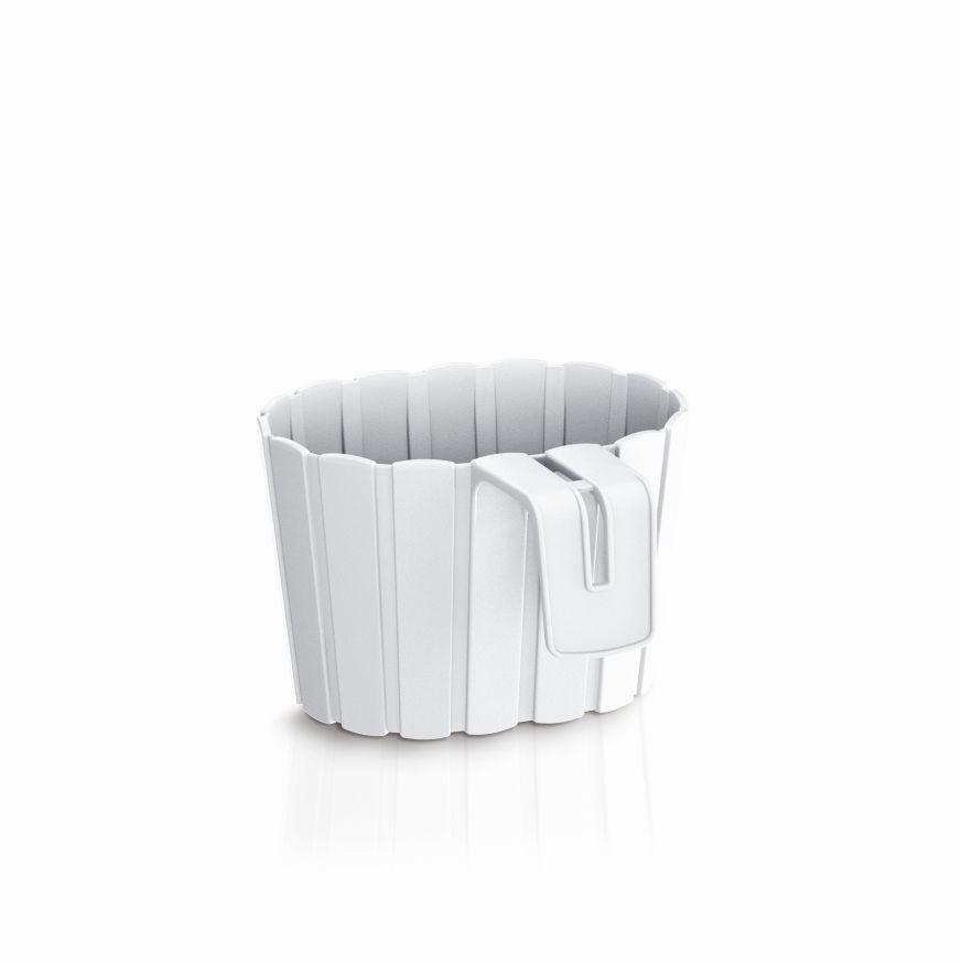PROSPERPLAST Květináč závěsný BOARDEE HOOK bílý 19,4cm