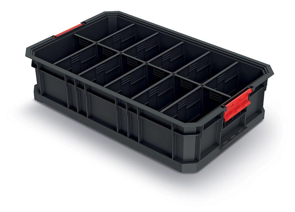 PROSPERPLAST Modulární přepravní box s přepážkami MODULAR SOLUTION 520x327x125