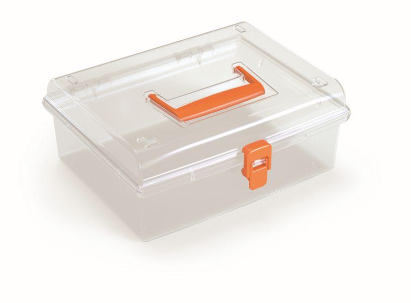 PROSPERPLAST Plastový organizér NUF LOW 245x214x100 oranžový